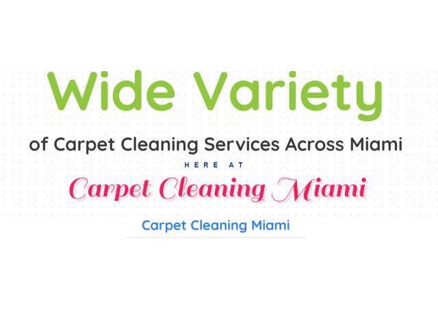 Carpet Cleaning Services in Miami