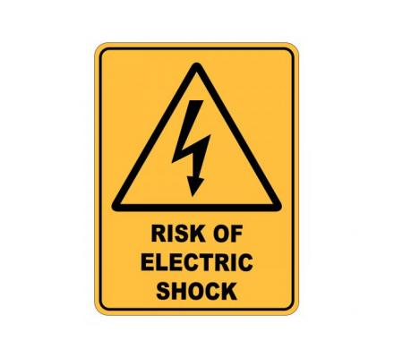 Order electrical warning sign for your commercial location