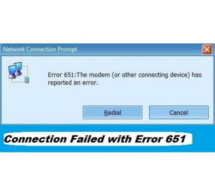 Why Connection Failed With Error 651