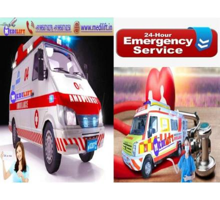 Find the Latest Ventilator Ambulance Service in Gaya at Low Fare