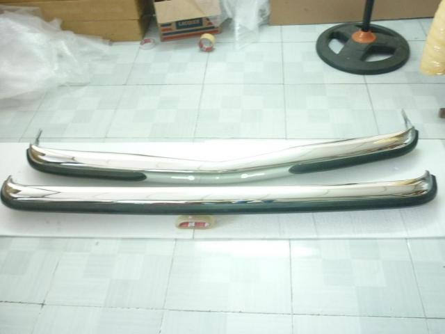 Mercedes Benz W123 stainless steel bumpers