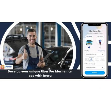 Launch your own uber for mechanics app developed by INORU and make your customers work half.