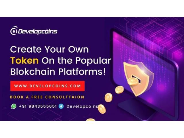 Easy way to Create Your Own Token | Developcoins