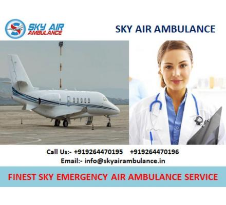 Sky ICU Air Ambulance Service in Jaipur with Medical Team