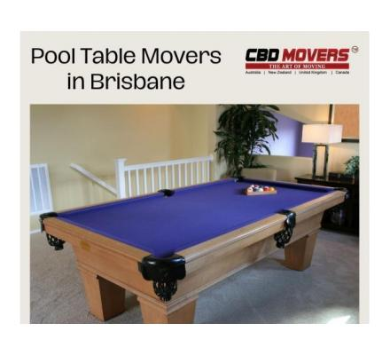 Looking for Professional Pool Table Movers in Brisbane