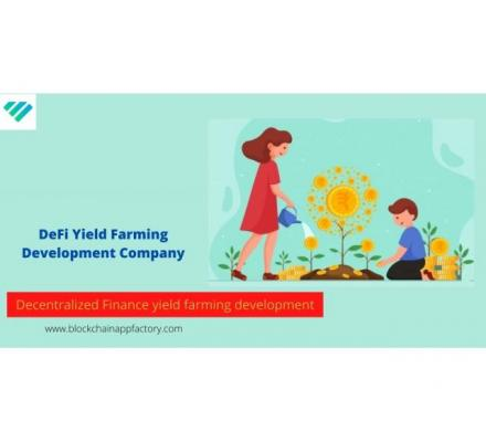 Invest in a profitable crypto business with DeFi Yield Farming Development Company