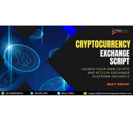 Launch Your Crypto Exchange Instantly With Ready To Launch Cryptocurrency Exchange Script!