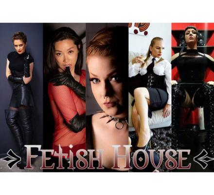 Today at Fetish House: Mistresses Gala, Misty, Salina, Shiloh and Olivia