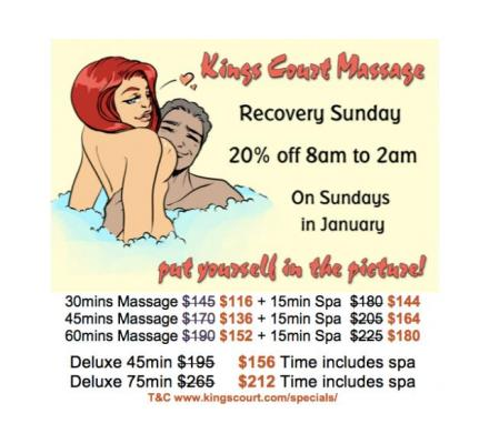 RECOVERY SUNDAY 20% Discount 8AM-2AM