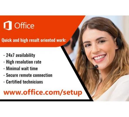 office.com/setup -  Enter Product Key -  Install Office