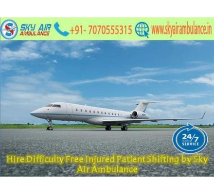 Chose Sky Air Ambulance Service in Bhopal with Healthcare Facility