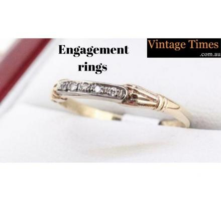 Engagement Rings - Vintage Times - Diamond Jewellery