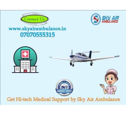 Avail 365 Days of ICU Patient Transfer Facility in Raipur by Sky Air Ambulance