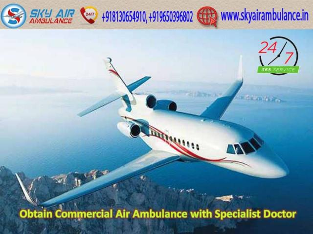 Choose Peerless ICU Setup Air Ambulance in Ranchi with MD Doctor
